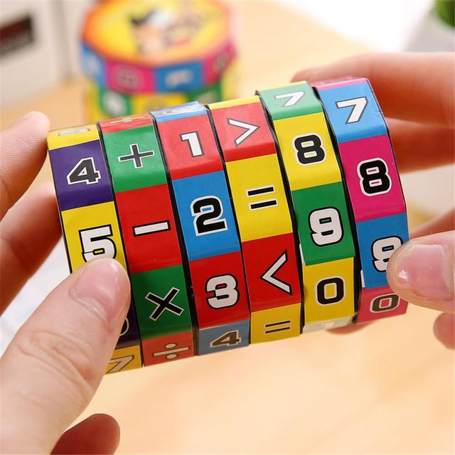 Children Montessori Games Mathematics Numbers Magic Cube Toy Puzzle Game Kids Learning Education Math Toy Fun Calculate Game