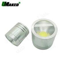 Комплект из 2 светодиодных алюминиевых ламп 3 Вт, 5 Вт, 7 Вт, точесветильник светильник/светодиодный монолитный блок светодиодов, основной дом + радиатор PCB + Len + чип COB + драйвер, бесплатная доставка