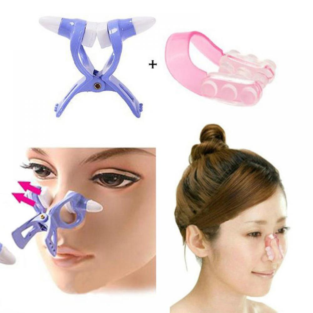 Nose Up Shaping Shaper Lifting + Bridge Straightening Beauty Clip Clipper Set Women Girl Massager Nose Care Tools