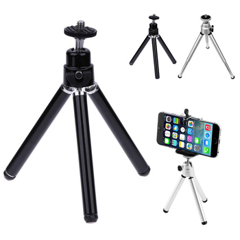 Mini Tripod For iPhone Samsung With Mobile Phone Holder Stand Flexible Tripod For Gopro Action Camera Bracket image