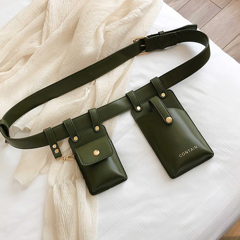 AELFRIC ヒップホップラグジュアリーデザインファニーパック男性 2019 ファッション革電話ポーチパンクウエストバッグベルト女性財布ストリート
