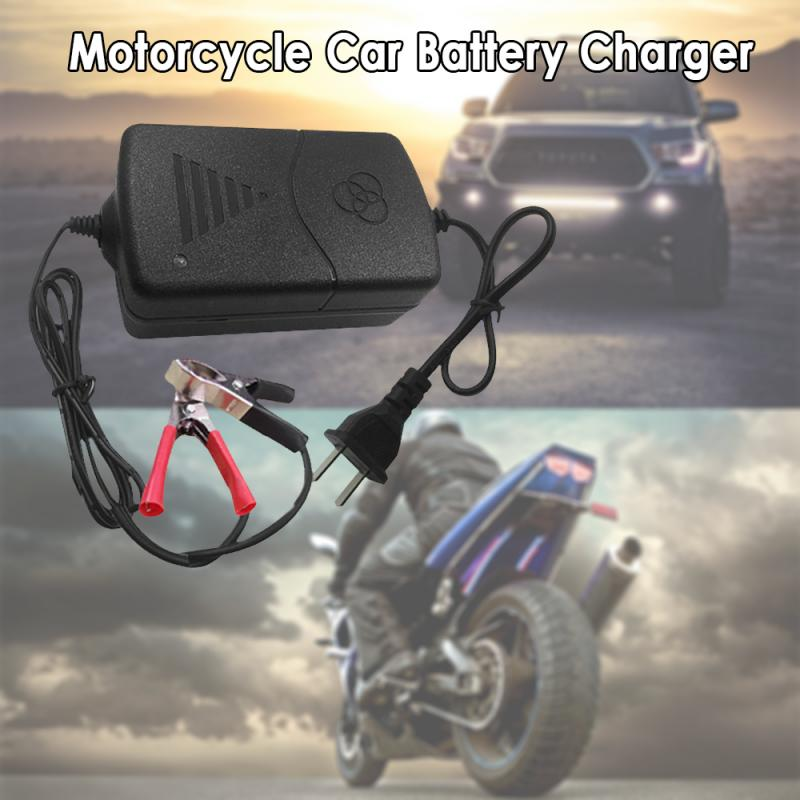 12V Universal Battery Charger for Car Truck Motorcycle Maintainer Trickle car charger US Plug/EU Plug Battery Charging Portable