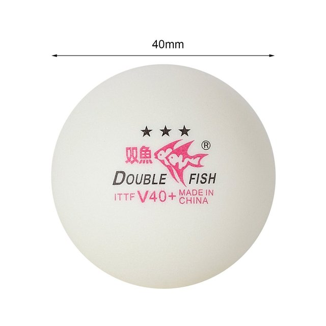 10pcs/set Double Fish V40+ 3 Stars 40mm White Table Tennis Balls ABS Plastic Seamed Balls Training Ping Pong Balls