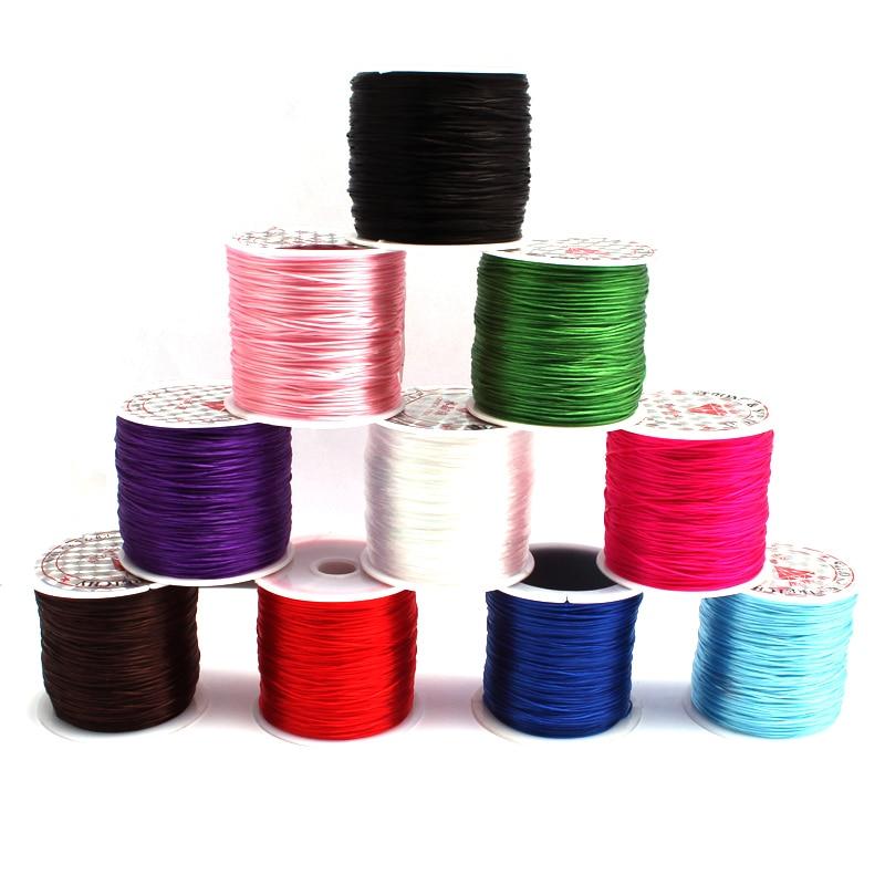 60 м/рулон, эластичная нить из нейлона, нить, шнур, нитка, бисероплетение, «сделай сам», рукоделие, 0,6 мм, строгий браслет с подвесками