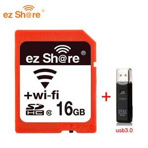 Image 2 - 2019 neue 100% original Reale Kapazität Ez Teilen Wifi Sd Karte Speicher kartenleser 32G 64G 128G c10 für Kamera freies Verschiffen