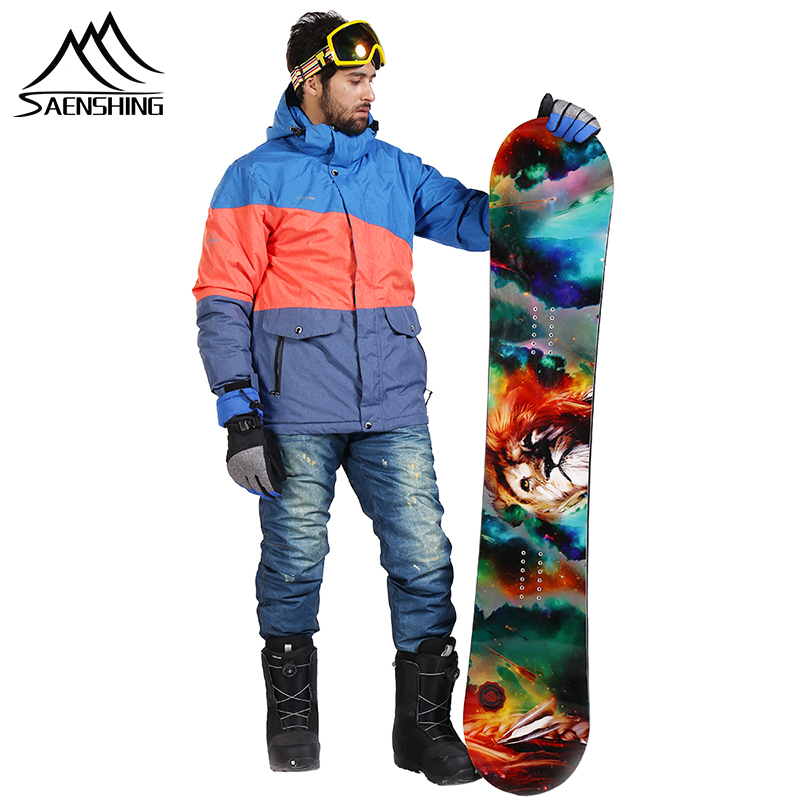 SAENSHING Brand Ski Suit Men Snowboarding Suits Waterproof Windproof Ski Jacket Snowboard Snow Set Super Warm Skiing Sportswear
