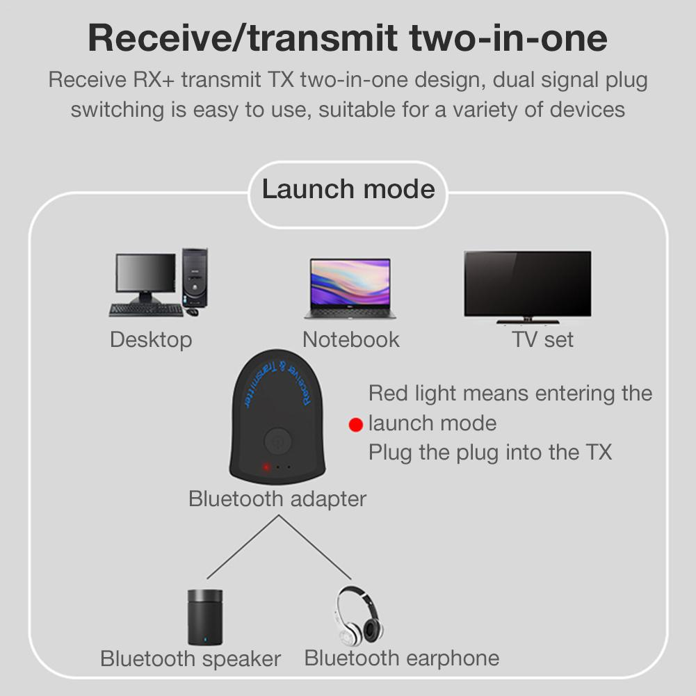 Bluetooth Receive Transmitter 2 In 1 3 5MM Computer TV Speaker 4 2  Bluetooth Adapter For Mobile Phone Tablet Notebook TV Stereo