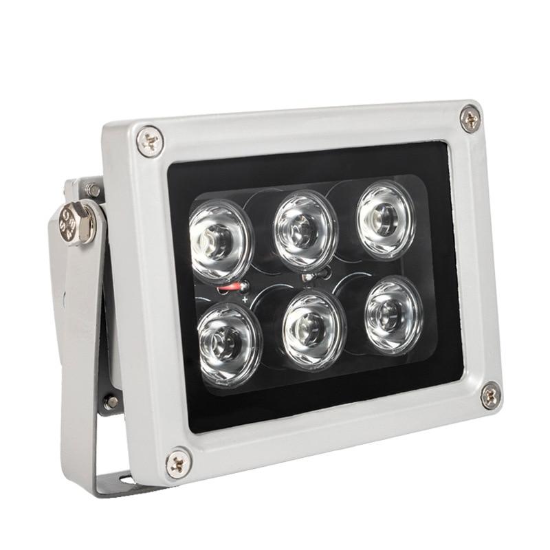 ИК-подсветильник ка для камеры видеонаблюдения, 6 светодиодов, 60 м