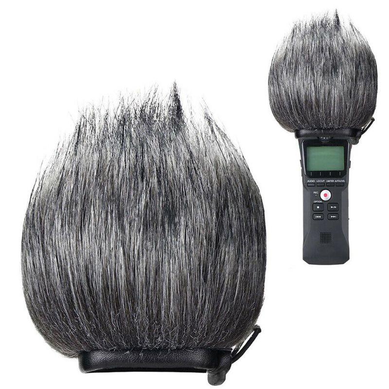 Furry Windscreen Muff Wind Cover Foam Filter Sponge Microphone Windproof Cover For Zoom H1 Handy Recorder Mic