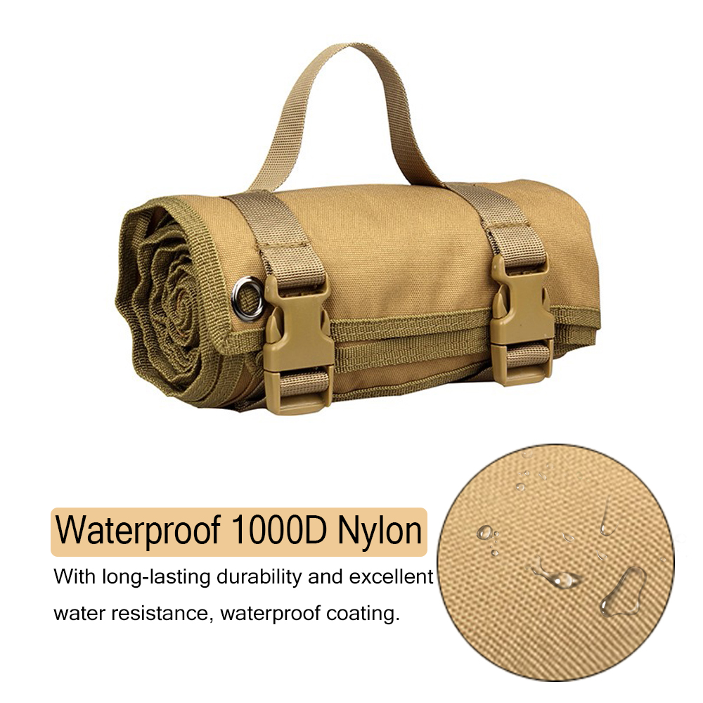 Image 3 - Tactical Shooting Mat 1000D Nylon Waterproof Roll Up Camping Mat Military Molle Non padded Mat For Gun Rifle Hunting AccessoriesHunting Bags   -