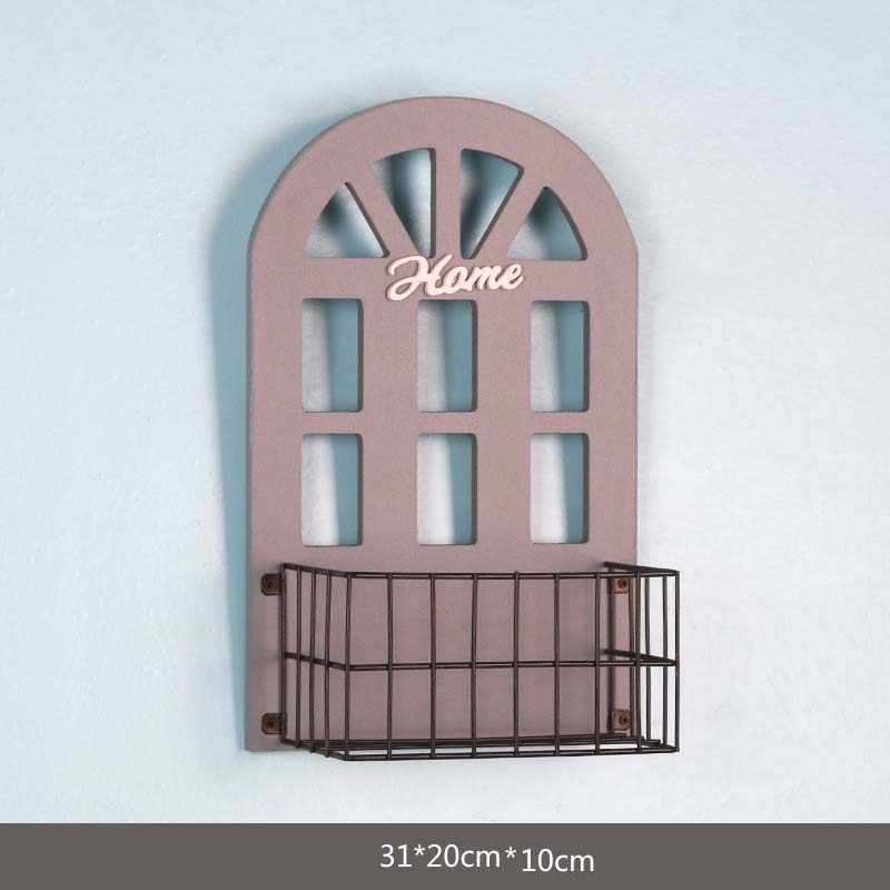 Wall Hanging Storage Shelf Crafts Kids Room House Flower Trellis Potting Rack Bedroom Organizer Holder