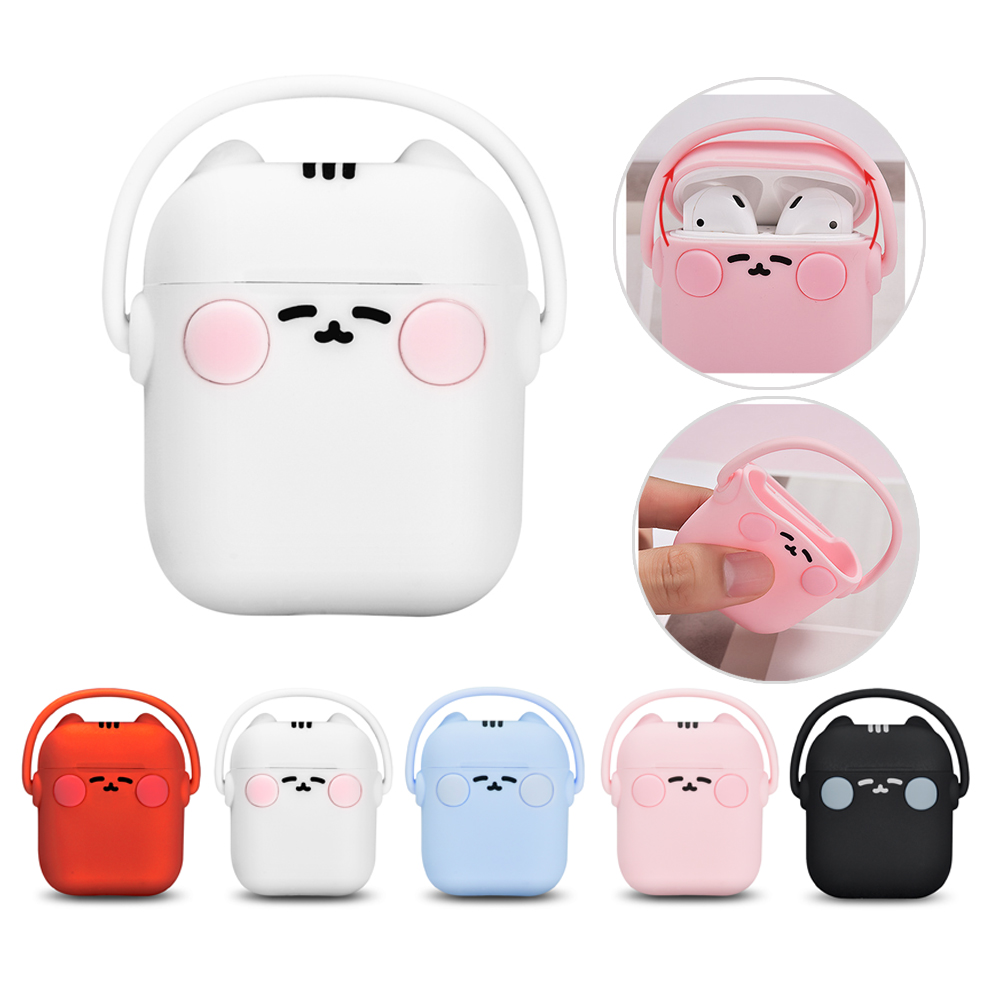 TWS Earphone Box Rock Headphone Kitten Silicone Case Portable Headset Cat Bluetooth Earbuds Charging Bin Cover For AirPods