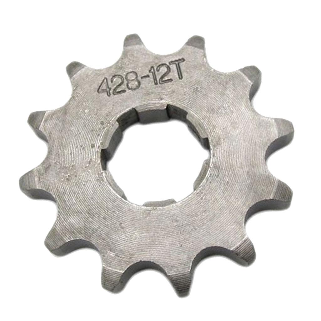 12T 428 Chain/Pitch Front Sprocket Cog Pit/Trail/Dirt Bike ATV Quad 20mm