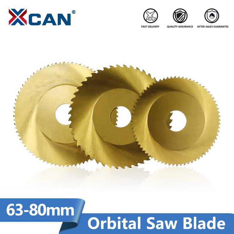 XCAN 1pc 63mm 68mm 80mm 44T 64T 72T 80T Circular Orbital Saw Blade Stainless Steel Pipe Tube Cutting Saw Blade
