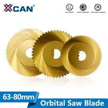Xcan serra orbital circular, 1 peça de 63mm 68mm 80mm 44t 64t 72t 80t lâmina de corte de tubo, de aço inoxidável