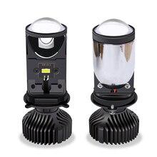 2 Pcs H4 LED Scheinwerfer Lampen Auto Motorrad Hallo/Lo Mini Objektiv Projektor 90W 9003 HB2 Auto Lampe birne Zubehör LED Canbus 12v 24V