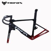 T1000 Carbon Road Bike Frame UD BSA Bicycle Carbon Frame Road Di2 And Mechanism XXS XS S M L Frameset 1 1/8 1 1/2 TRIFOX