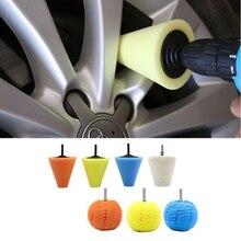 1ชุดกรวยแผ่นฟองน้ำBall Hubล้อขัดBuffingรถยนต์รถPolishing PadชุดสำหรับAutoขัดบัฟเฟอร์Waxing