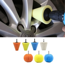 1set Cone Sponge Pads Ball Hub Polishing Wheel Buffing Car Beauty Waxing Car Polishing Pad Set for Auto Polishing Buffer Waxing