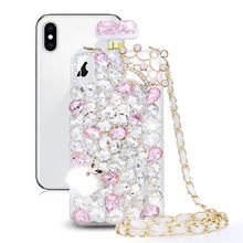 Diy Kroon Vos Diamant Parfumflesje Case Voor Iphone 11 Pro Xs Max Xr X 8 7 6 6S plus Samsung Note 10 9 8 S20 Ultra S10E/9/8 Plu(China)