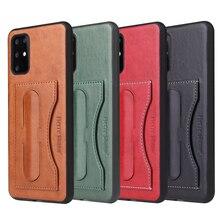 Funda de teléfono en 4 colores para Samsung Galaxy S20 S20 + Plus Ultra 5G, funda trasera de cuero PU, Tarjetero con bolsillo, soporte Retro Vintage