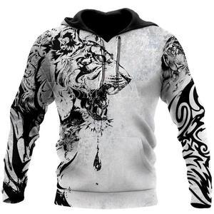 Power Tiger Tattoo 3D All Over Print Plus Size Hoodie Man Women Harajuku Outwear Zipper Pullover Sweatshirt Casual Unisex Jacket