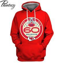 Phantasy 2020 Kansas City Chiefs 60 Seasons Print America Football Design Hoodie