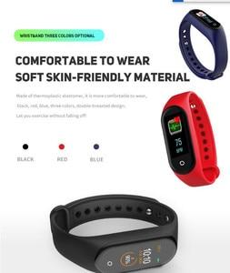 Image 4 - Nieuwe M4 Smart Band Polsband Horloge Fitness Tracker Armband Kleur Touch Sport Hartslag Bloeddrukmeter Mannen Vrouwen Android
