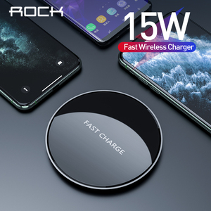 ROCK USB C Fast 15W Wireless Charger For Xiaomi Mi 9 Samsung S10 S9 Qi 10W Quick Charge for iPhone 11 XS XR X 8(China)