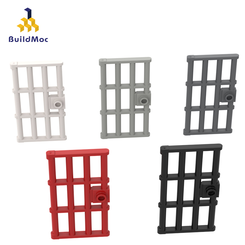BuildMOC Assembles Particles 60621 1x4x6 Door With Particle Frame Building Blocks Parts DIY LOGO Educational Gift Toys