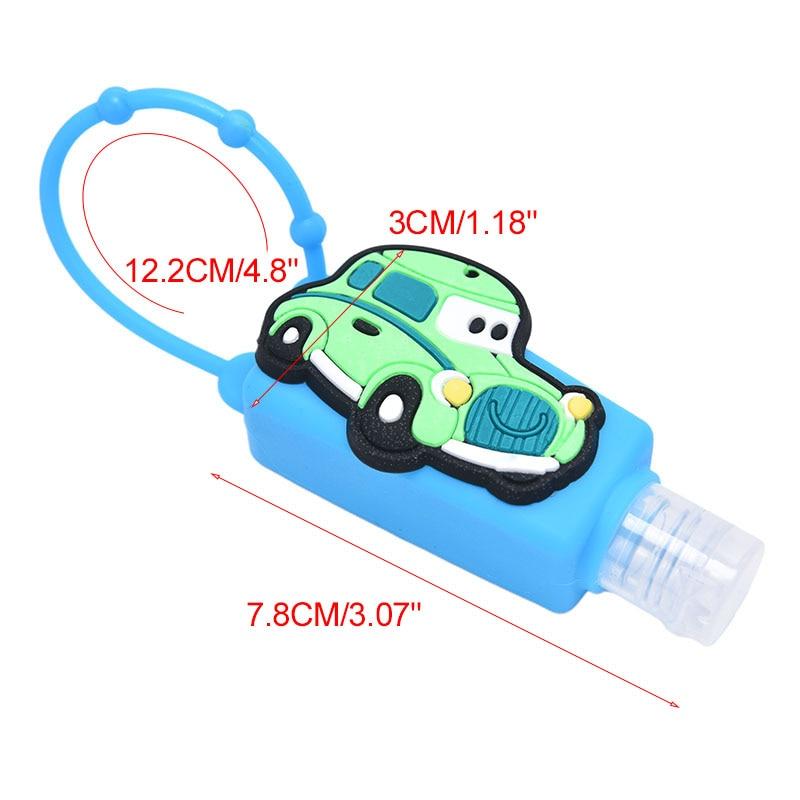 30ml Silicone Cartoon Panda Owl Cat Mini Portable Gel Hand Sanitizer Bottle Removable Travel Cover Set Random Color