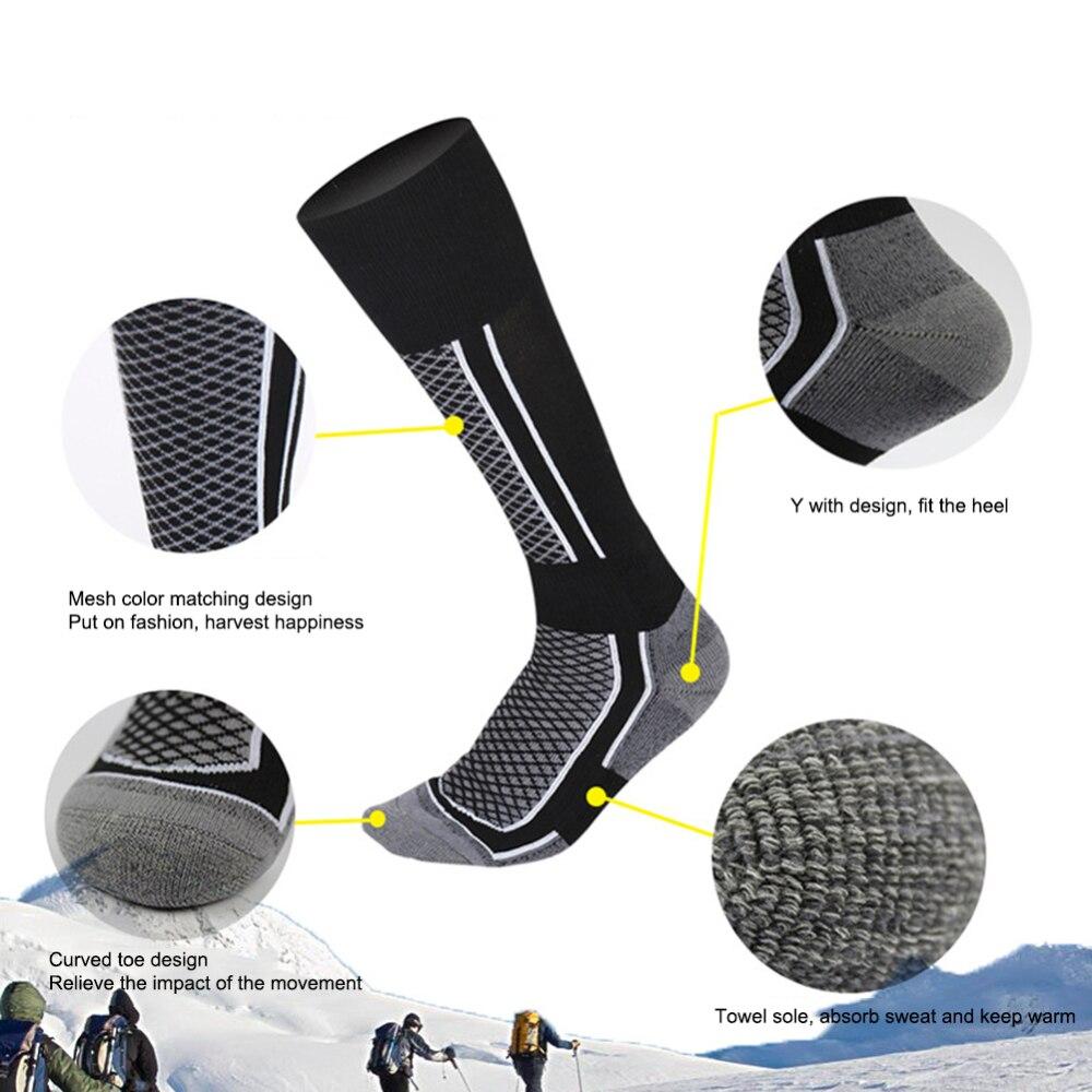 Мужские и женские лыжные носки, износостойкие походные носки, уличные Лыжные носки для сноубординга, термоноски, Длинные теплые Дышащие нос...