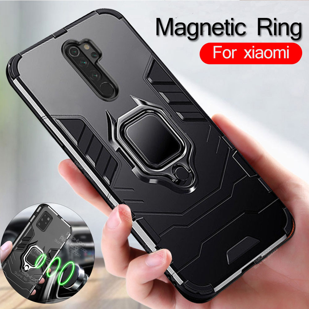 Magnetic Ring back <font><b>case</b></font> For xiaomi <font><b>redmi</b></font> <font><b>note</b></font> 8 <font><b>pro</b></font> 8t 8a 5 <font><b>6</b></font> 7 k30 xiomi mi <font><b>note</b></font> 10 a3 a2 lite 9 8 se 9t poco f1 x2 cover coque image