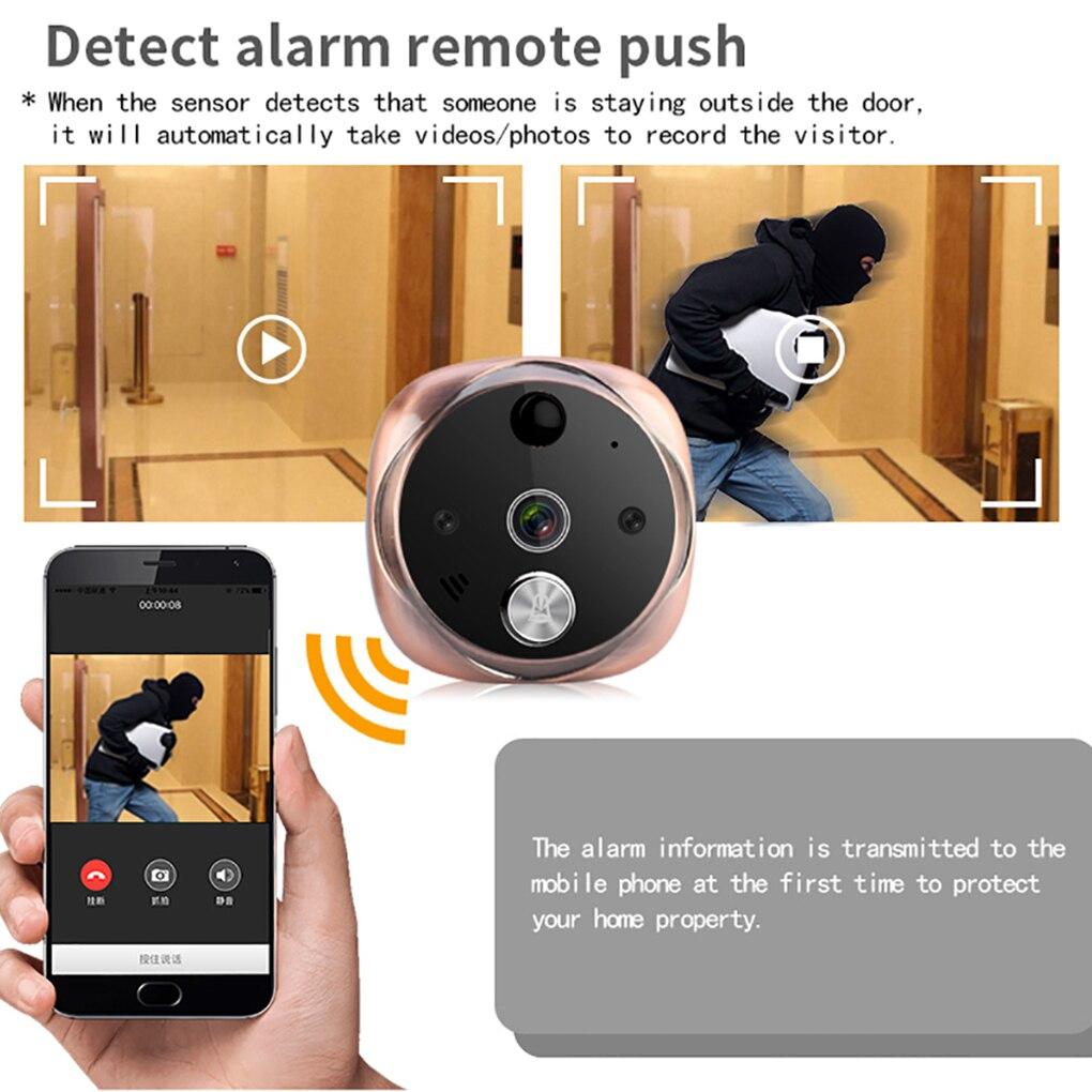 Offre spéciale sonnette 5 pouces numérique LCD écran visionneuse vidéo WiFi infrarouge porte de nuit judas caméra vidéo interphone sonnette