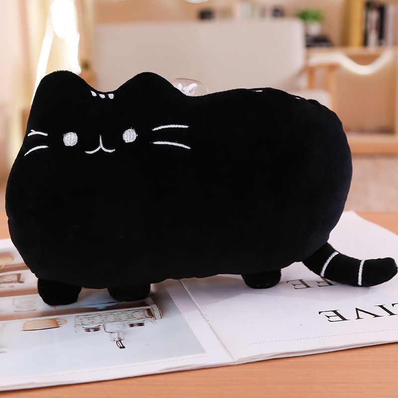 25 سنتيمتر Kawaii القط وسادة مع سستة فقط الجلد دون PP القطن البسكويت أفخم دمية على شكل حيوان لعب كبيرة غطاء الوسادة Peluche هدية