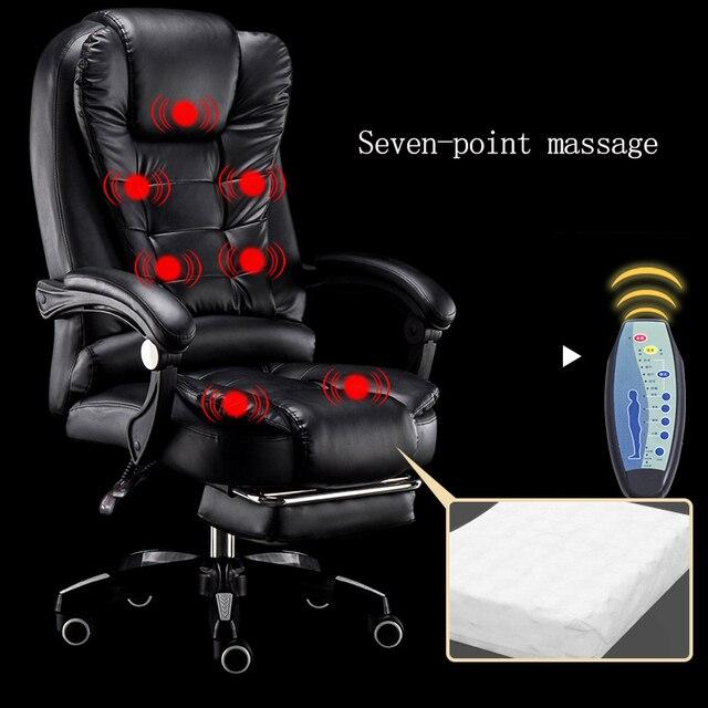 Office Baas Computer Stoel Thuis Lifting Verstelbare Draaibare Massage Stoel Moderne Draaibare Fauteuil Business Comfort Stoel