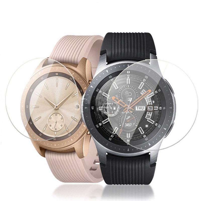 For Samsung Galaxy Watch 42mm Tempered Glass Ultra Thin Transparent Smart Watch Screen Protector Film Cover Case