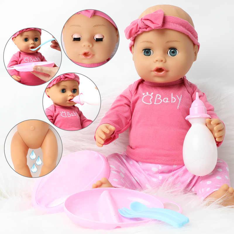 46 ซม.Bebe Reborn ตุ๊กตาผมยาว DIY ของเล่นเด็ก 18 นิ้วแฟชั่นที่สมจริงซิลิโคนเด็กเสื้อผ้าตุ๊กตาหวีชุด Boneca ของขวัญ