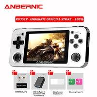 ANBERNIC-consola de juegos portátil Retro RG280V, 350P, RG351P, RG350M, sistema Linux, PC, PS1, consola de juegos portátil de bolsillo, RG351M