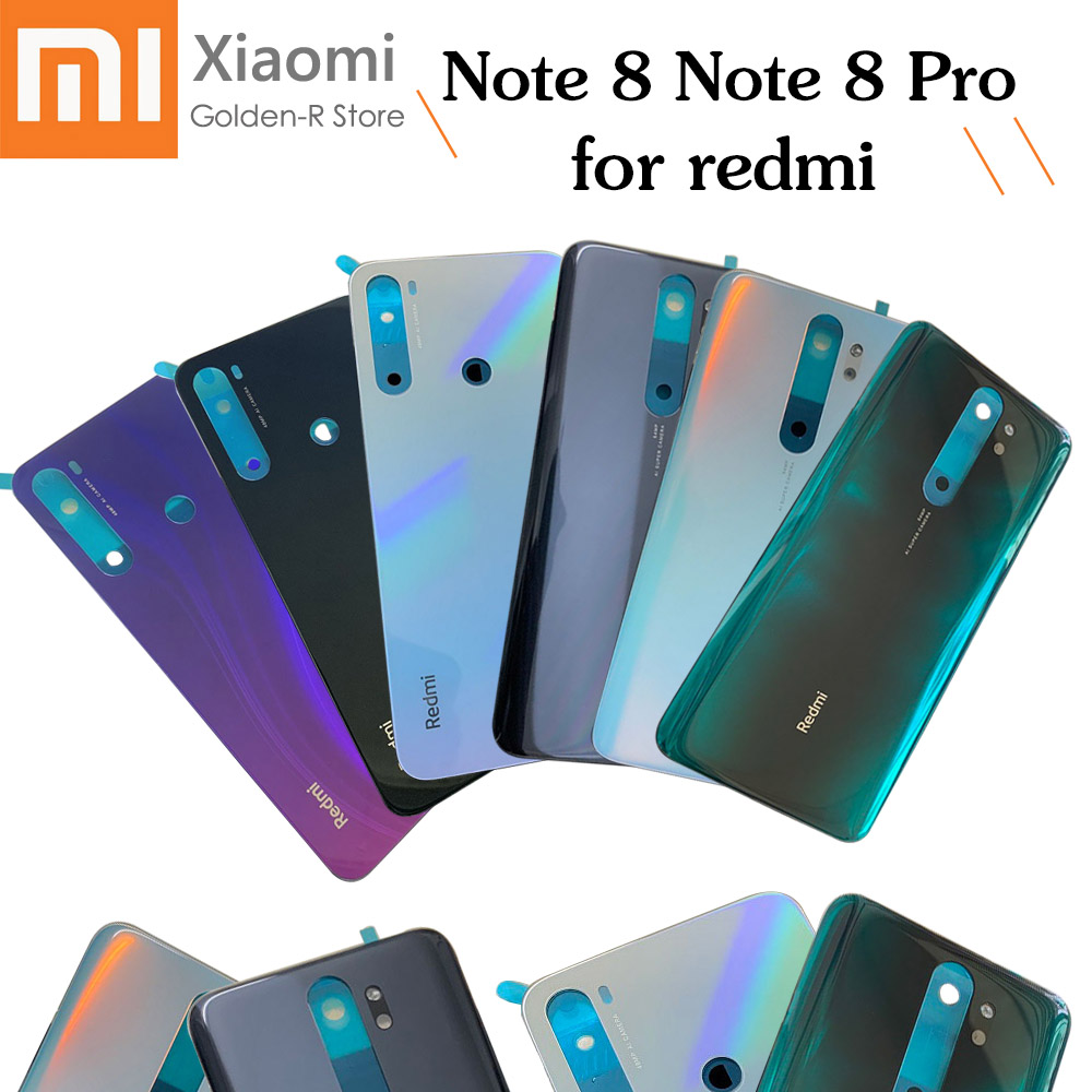 New For Xiaomi Redmi Note 8 Battery Cover Back Glass Panel Rear Housing Case For Redmi Note 8 Pro Back Battery Cover Door