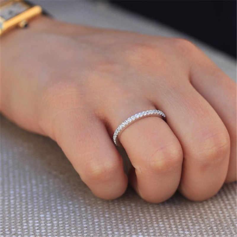 Modyle ร้อนคู่แต่งงานแหวนผู้หญิงเดี่ยวแถว Cubic Zircon แหวน Rose Gold/ทอง/เงินสีแฟชั่นเครื่องประดับ