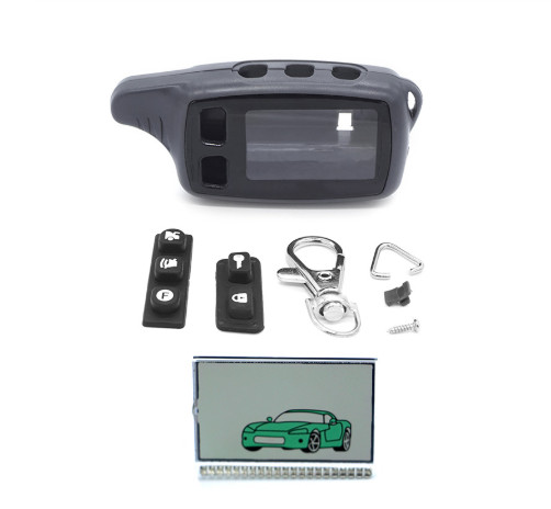 Tw9010 Case Keychain Key Chain+TW9010 lcd display For Tomahawk 9010 2-Way Car Remote image