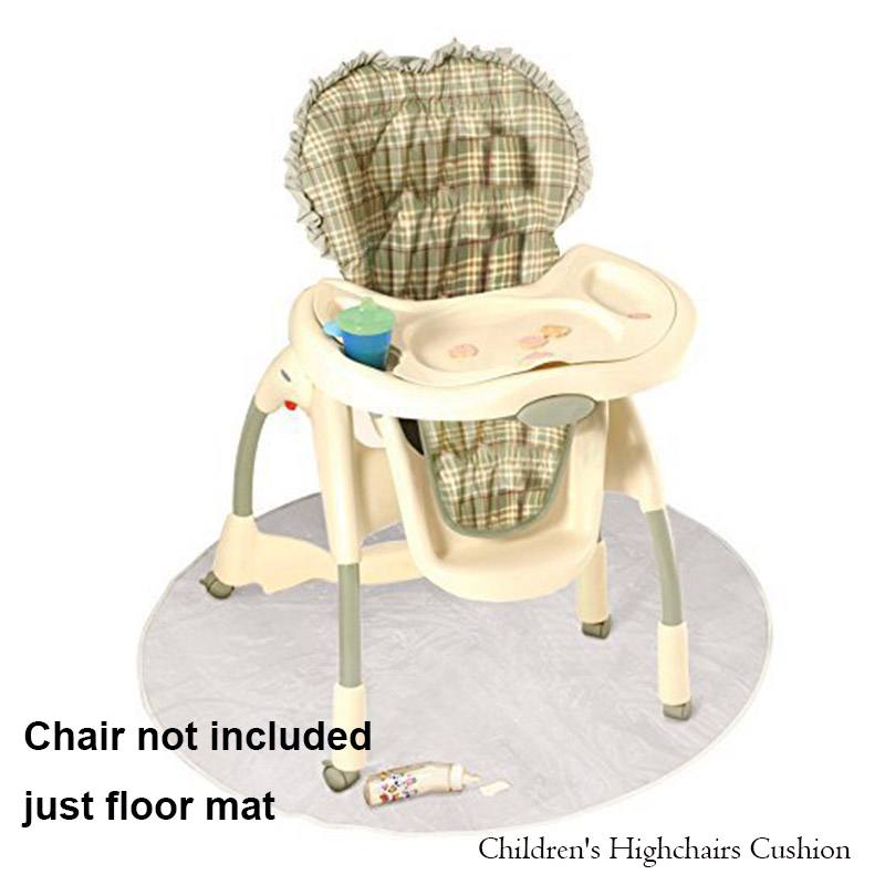 Baby Children's Highchairs Cushion PVC Washable Round Anti-dirty Floor Protector Splat Mat Cushion Kids Feeding Playing Mat