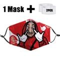 Маска моющаяся Пылезащитная унисекс, многоразовая теплая маска с забавным 3D принтом, фильтром PM2.5
