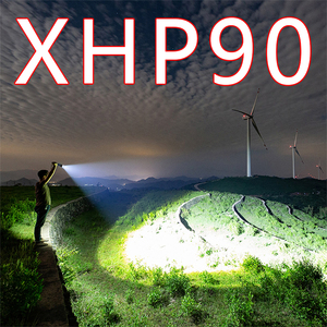Image 1 - Litwod Z90 XHP90 XHP50 パワー led 懐中電灯強力なトーチ戦術的なフラッシュ狩猟 Camping26650/18650 バッテリー