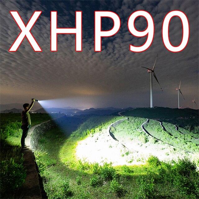 Litwod Z90 XHP90 XHP50 パワー led 懐中電灯強力なトーチ戦術的なフラッシュ狩猟 Camping26650/18650 バッテリー