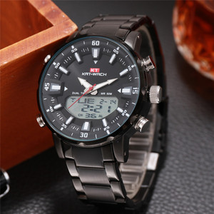 Mens Watches Top Luxury Brand Men Sports Watches Men's LED Digital Quartz Clock Waterproof Military Wrist Watch black waches(China)