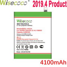 WISECOCO 4100mAh HE314 Battery For SHARP AQUOS Z2 A1 FS8002 Phone In Stock Latest Production High Quality Battery+Tracking Code