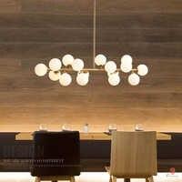 Art décoratif moderne LED bulle suspension AC110/220 suspension lumière doré G4 hôtel Restaurant salon Loft hall hall dynastie