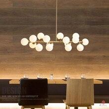 Arte decorativa moderna conduziu a lâmpada pingente de bolha ac110/220 pendurado luz ouro g4 hotel restaurante salão loft hall entrada dinastia